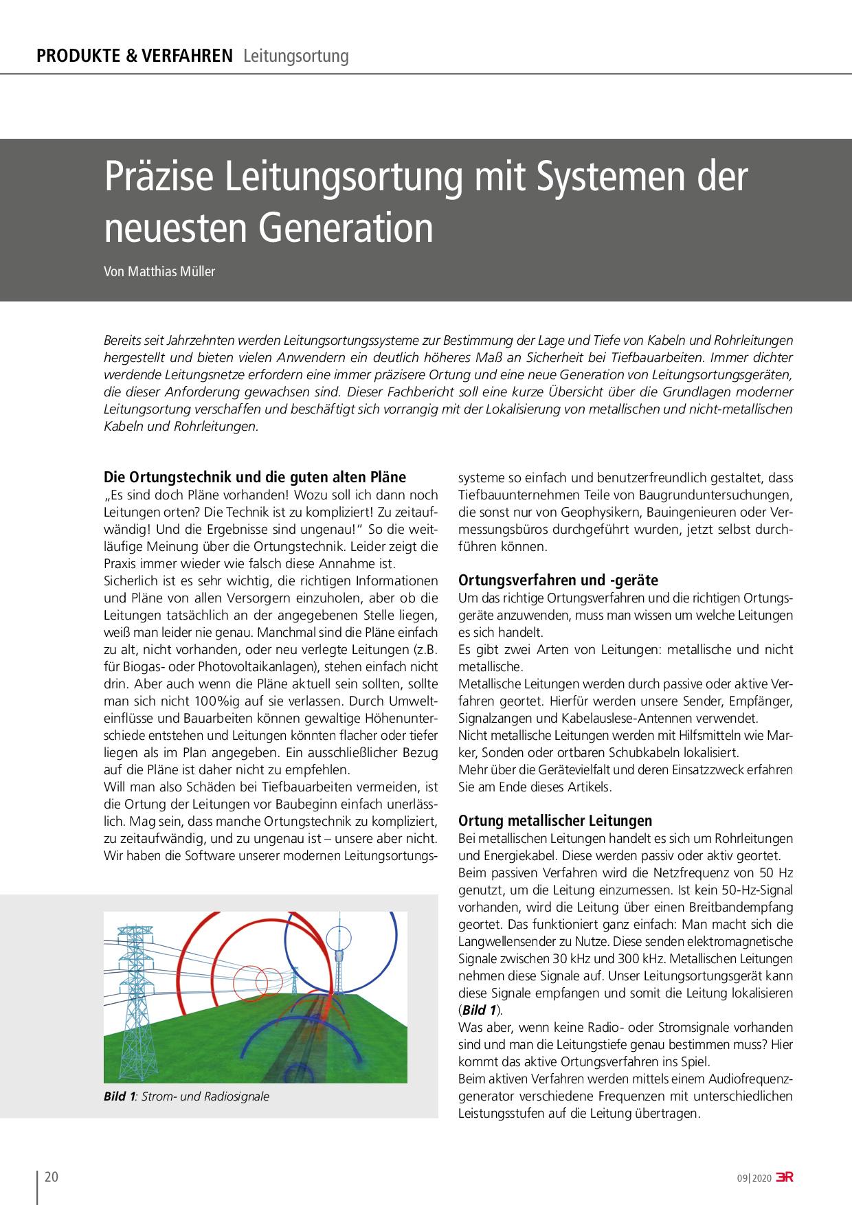 Präzise Leitungsortung mit Systemen der neuesten Generation