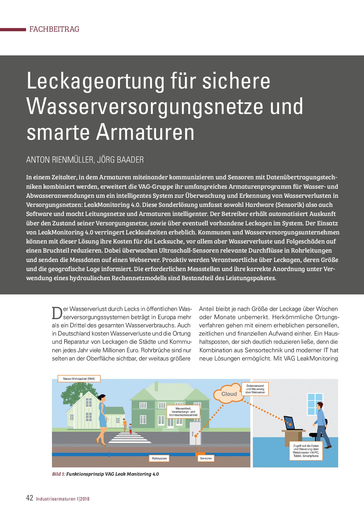 Leckageortung für sichere Wasserversorgungsnetze und smarte Armaturen