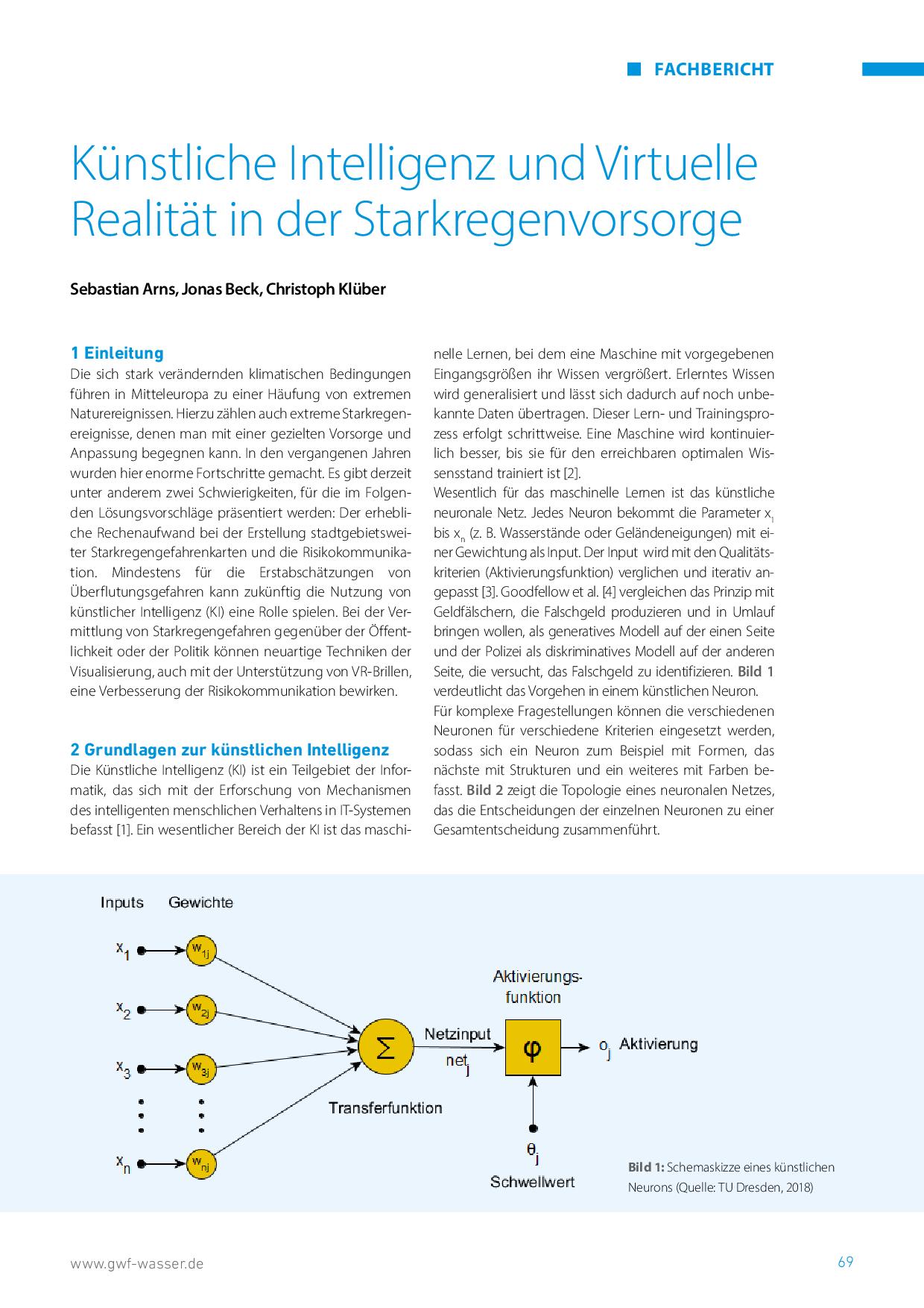 Künstliche Intelligenz und Virtuelle Realität in der Starkregenvorsorge