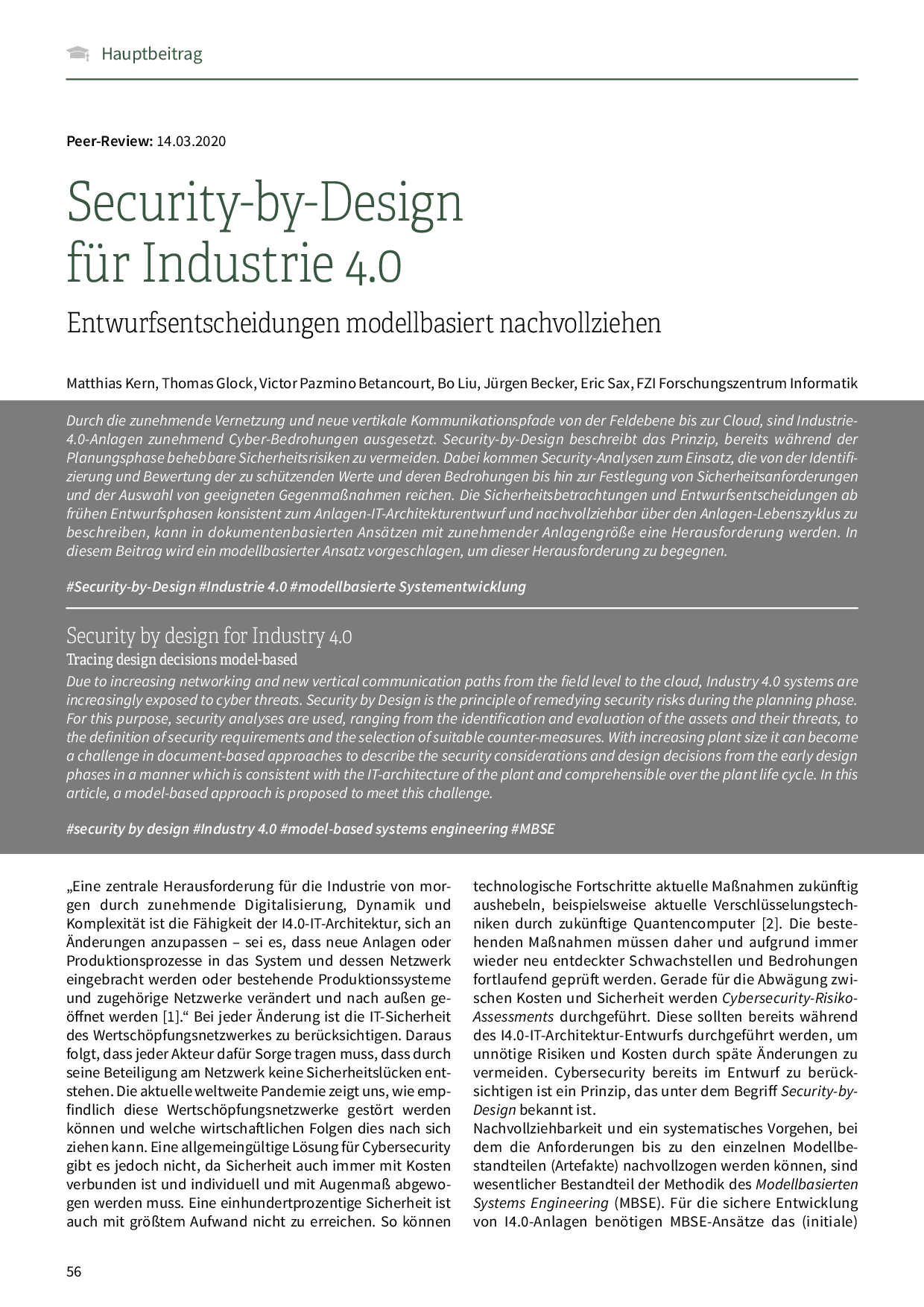Security-by-Design für Industrie 4.0