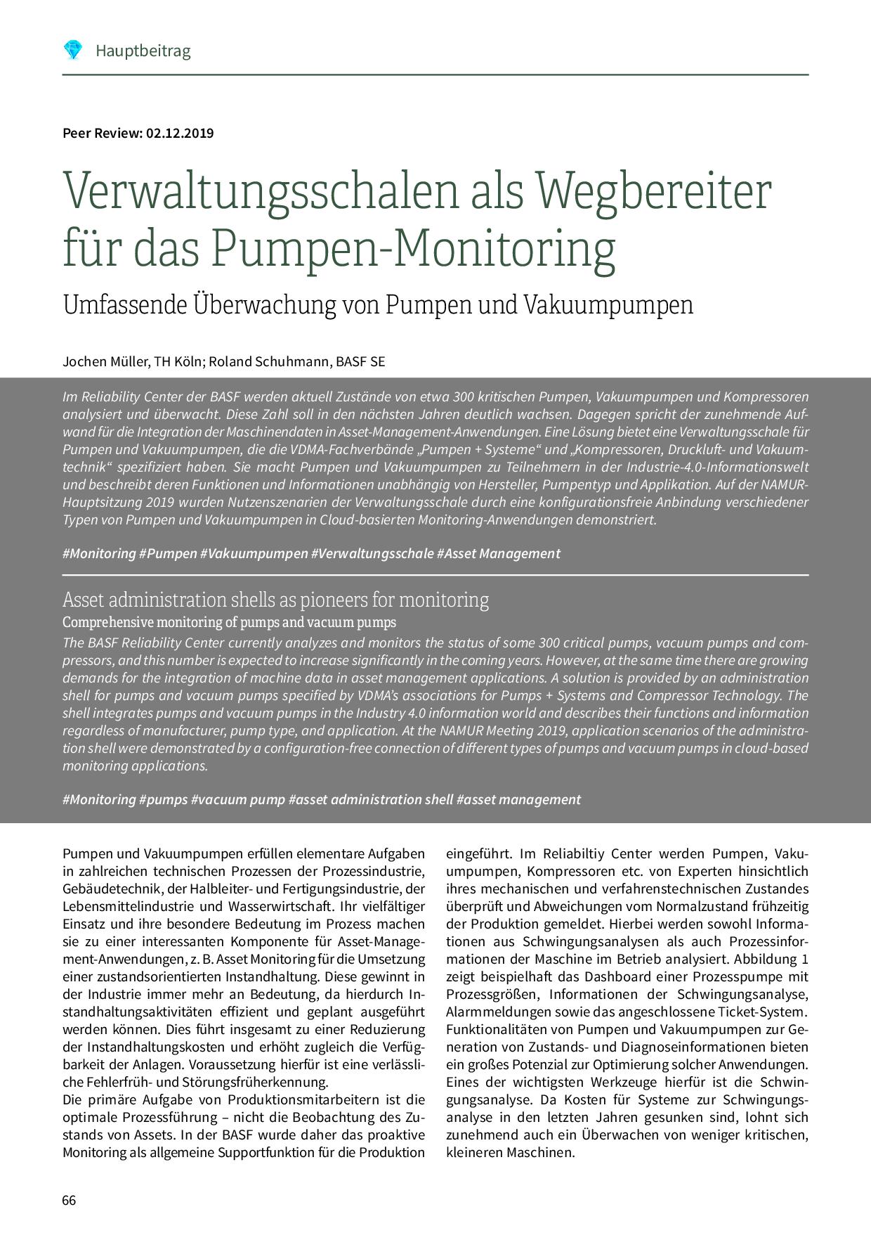 Verwaltungsschalen als Wegbereiter für das Monitoring