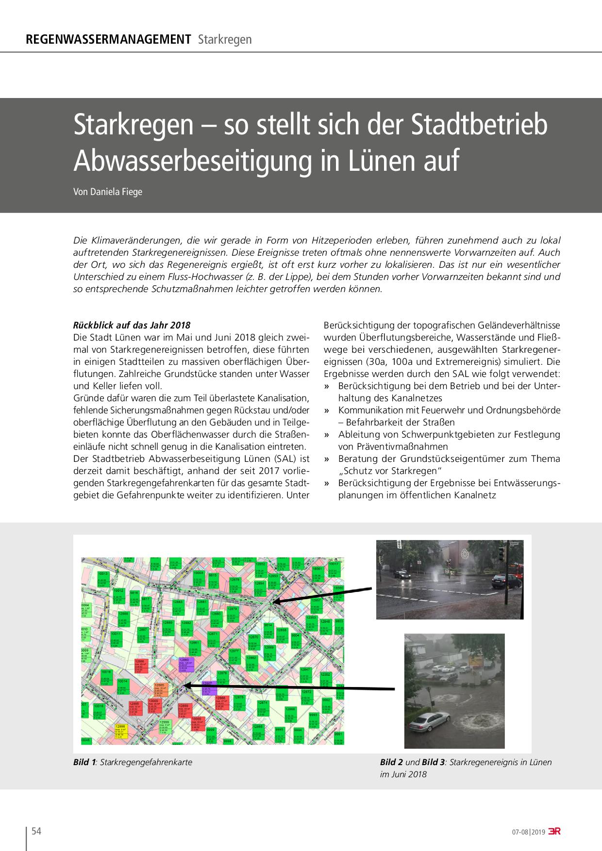 Starkregen – so stellt sich der Stadtbetrieb Abwasserbeseitigung in Lünen auf