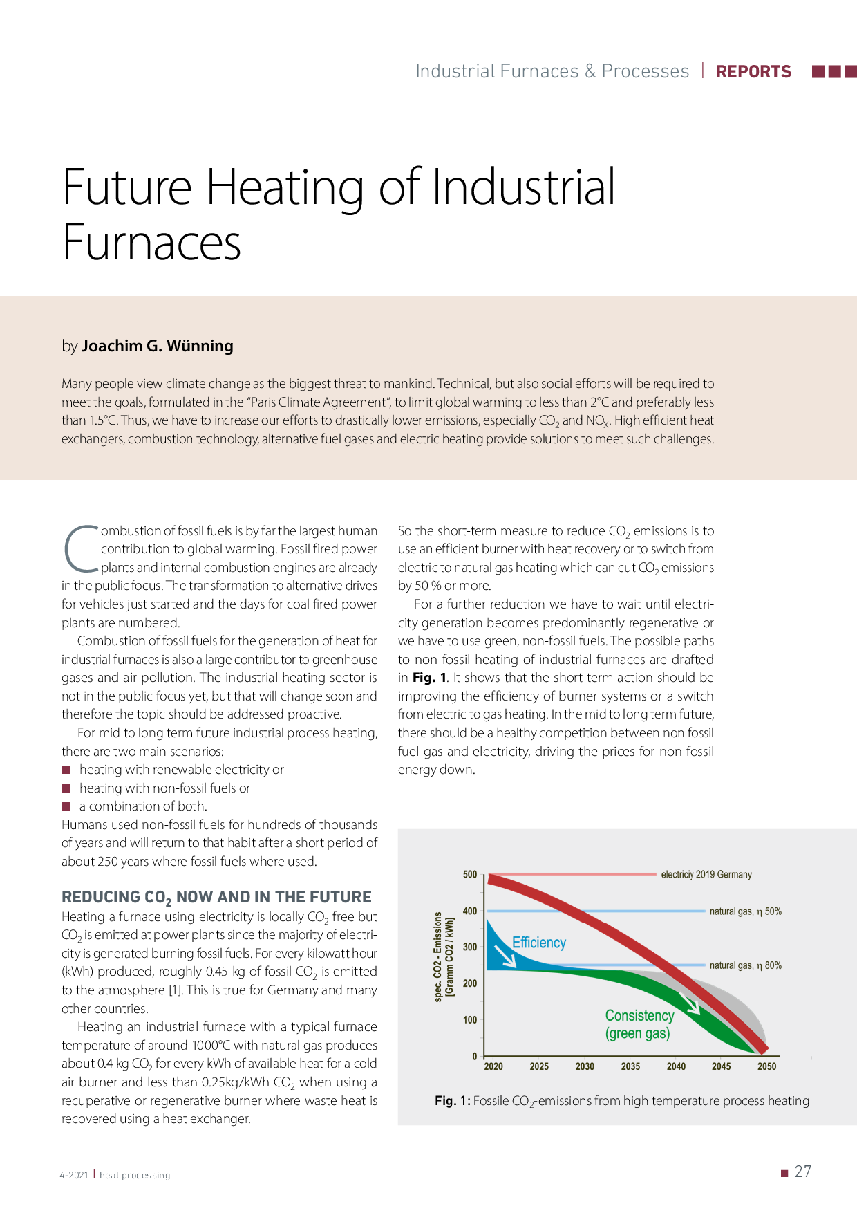Future heating of industrial furnaces