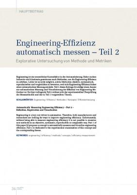 Engineering-Effizienz automatisch messen – Teil 2