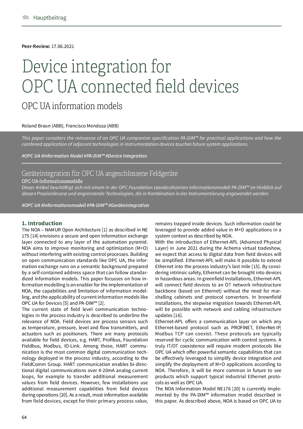OPC UA Server Aggregation