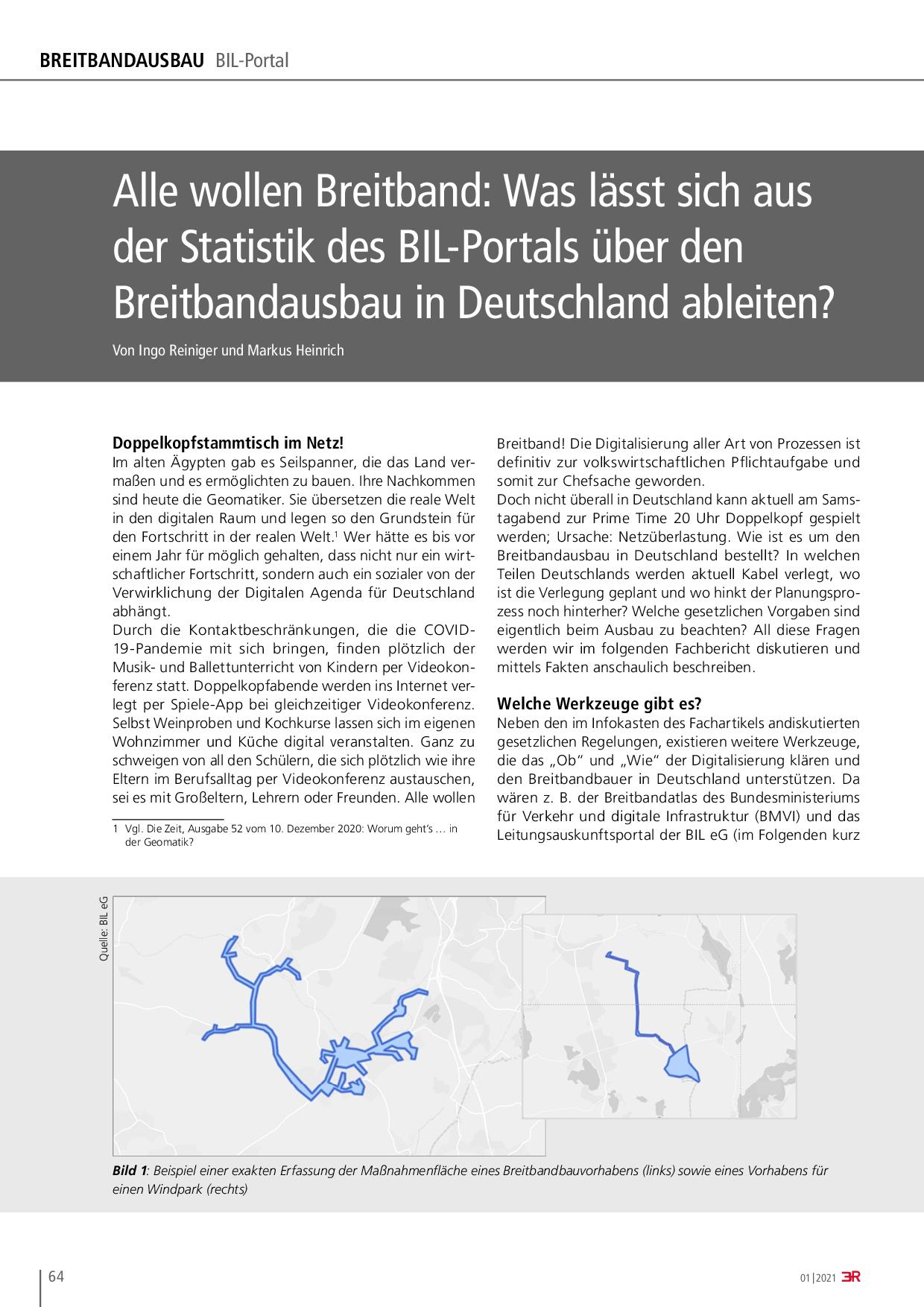 Alle wollen Breitband: Was lässt sich aus der Statistik des BIL-Portals über den Breitbandausbau in Deutschland ableiten?