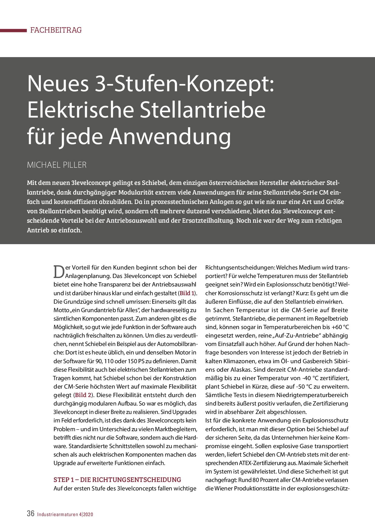 Neues 3-Stufen-Konzept: Elektrische Stellantriebe für jede Anwendung