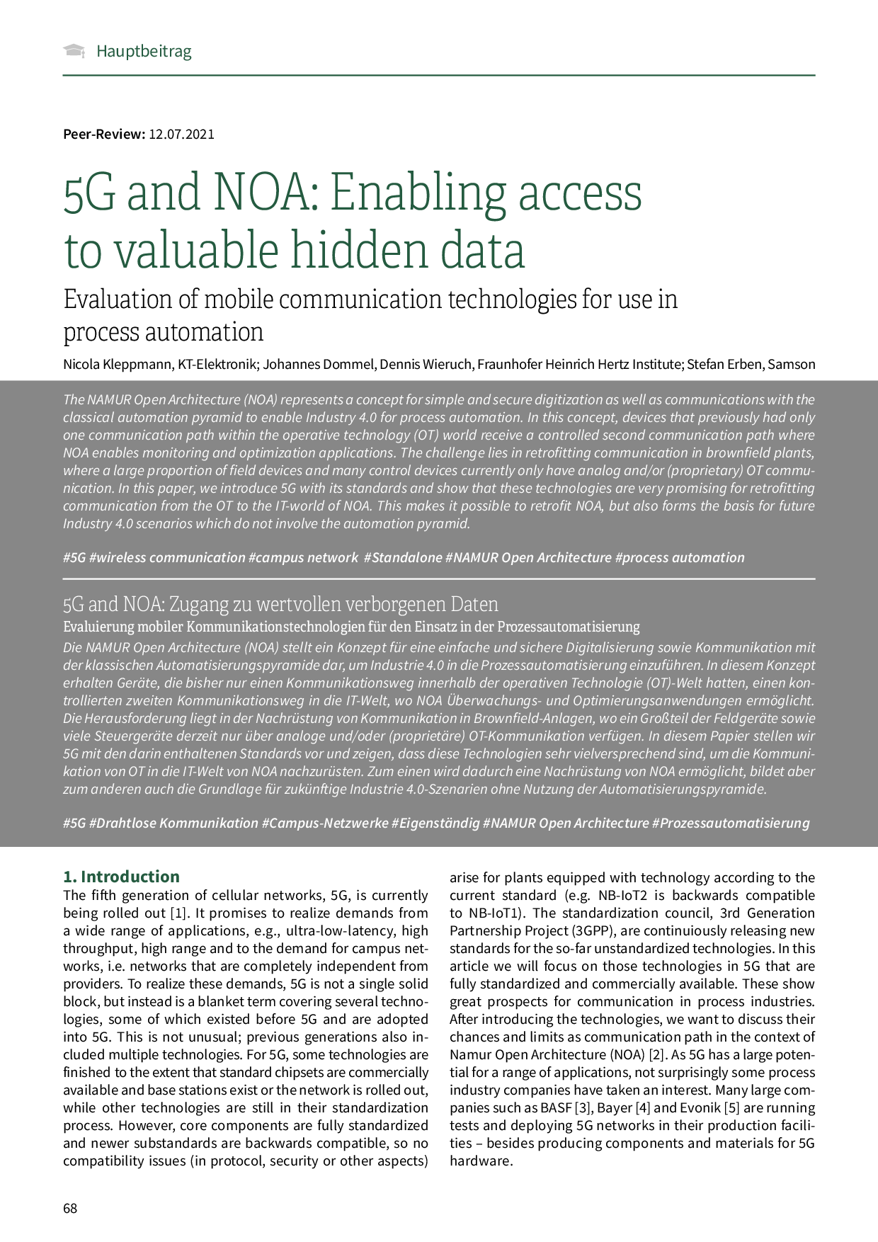 5G and NOA: Enabling access to valuable hidden data