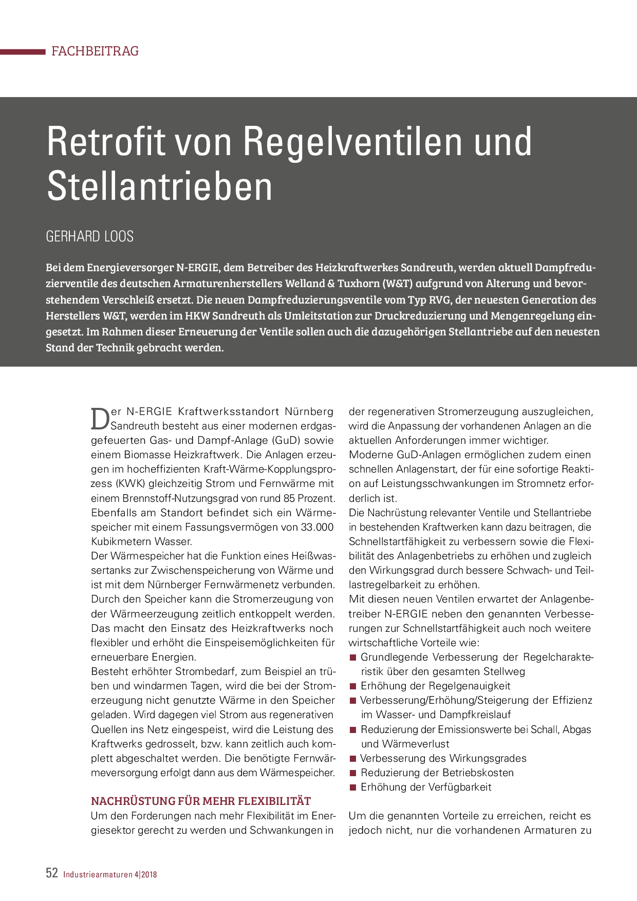Retrofit von Regelventilen und Stellantrieben
