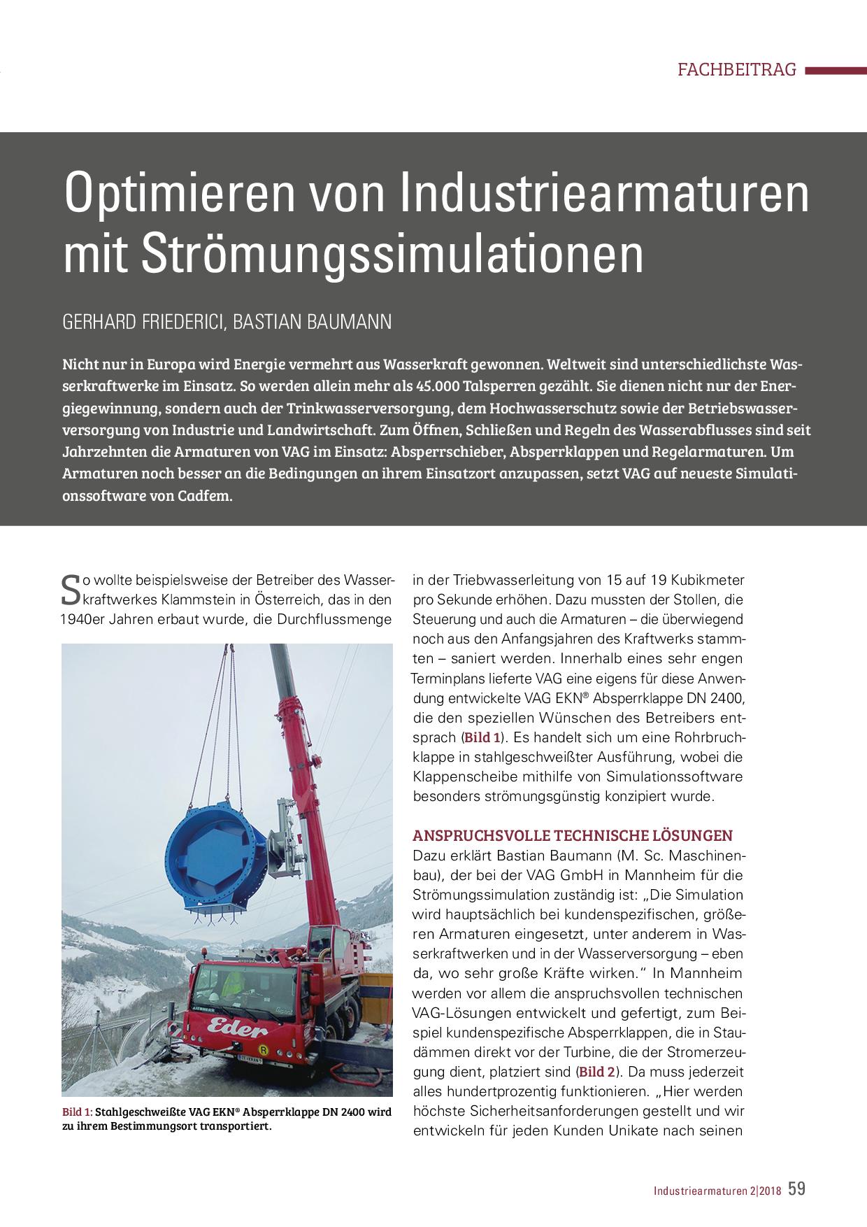 Optimieren von Industriearmaturen mit Strömungssimulationen