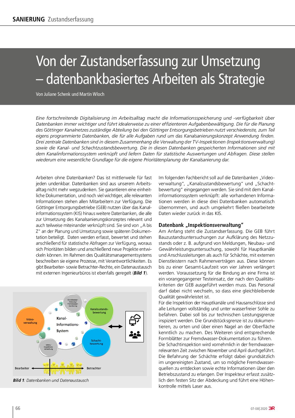 Von der Zustandserfassung zur Umsetzung – datenbankbasiertes Arbeiten als Strategie
