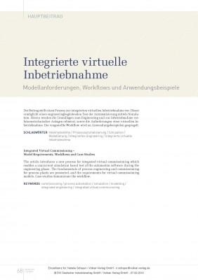 Integrierte virtuelle Inbetriebnahme