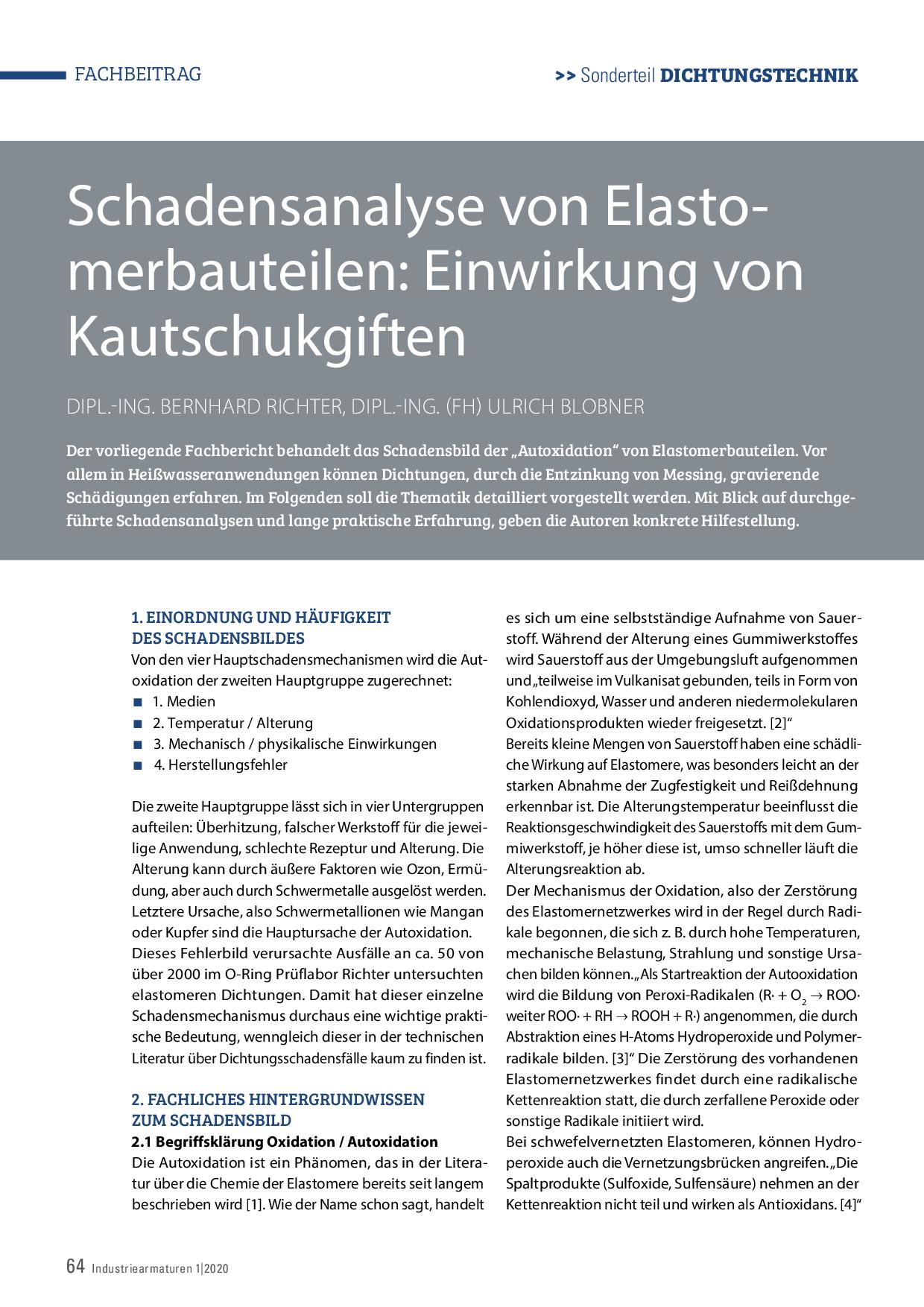 Schadensanalyse von Elastomerbauteilen: Einwirkung von Kautschukgiften