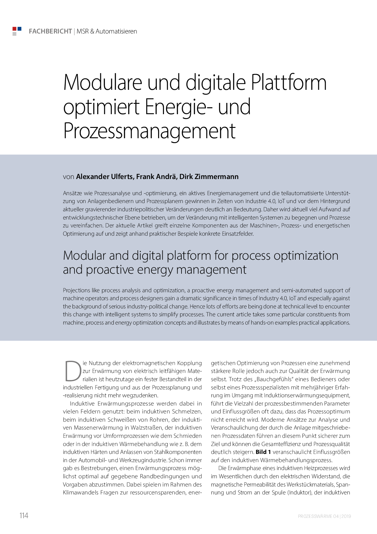 Modulare und digitale Plattform optimiert Energie- und Prozessmanagement