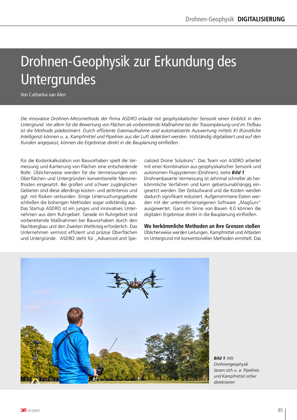 Trassenplanung mit Drohnentechnik