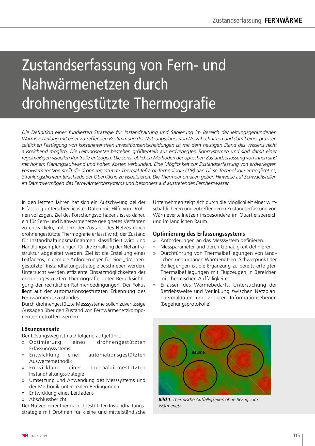 Zustandserfassung von Fern- und Nahwärmenetzen durch drohnengestützte Thermografie