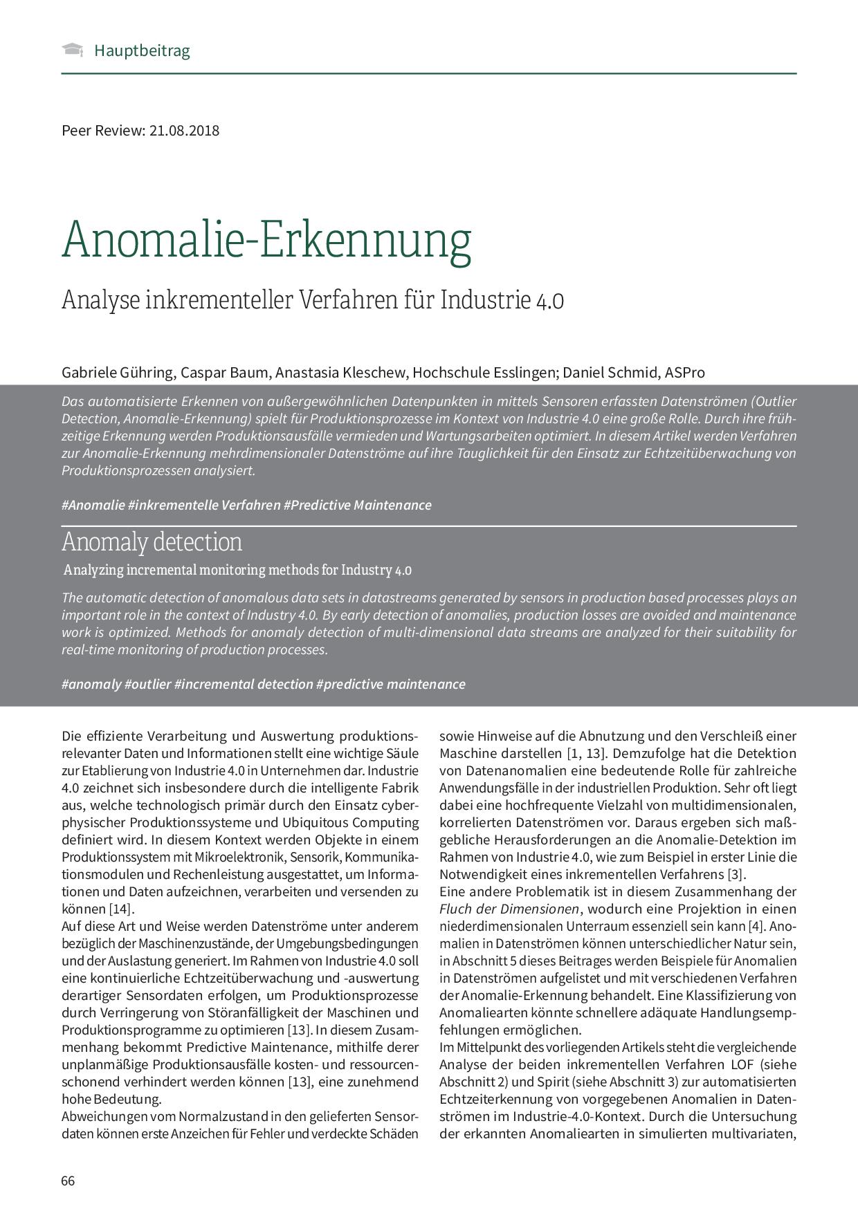 Anomalie-Erkennung