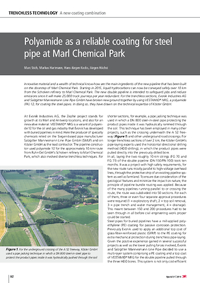 Polyamide as a reliable coating for steel pipe at Marl Chemical Park