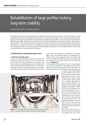Rehabilitation of large profiles lacking long-term stability