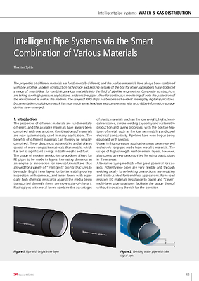 Intelligent Pipe Systems via the Smart Combination of Various Materials