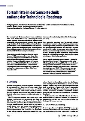 Fortschritte in der Sensortechnik entlang der Technologie-Roadmap