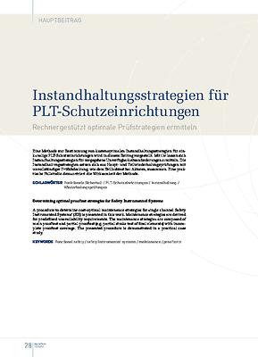 Instandhaltungsstrategien für PLT-Schutzeinrichtungen