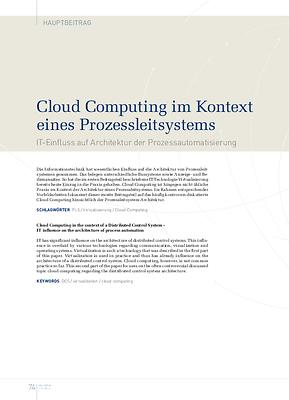 Cloud Computing im Kontext eines Prozessleitsystems
