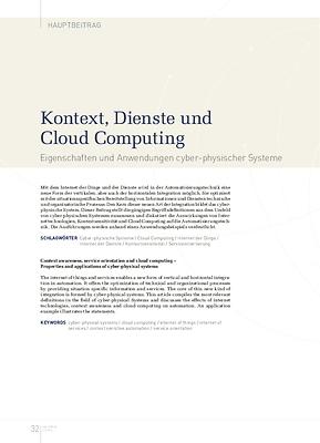 Kontext, Dienste und Cloud Computing
