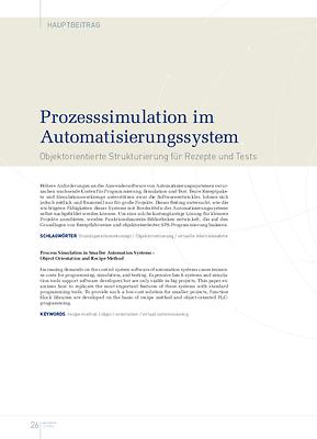 Prozesssimulation im Automatisierungssystem