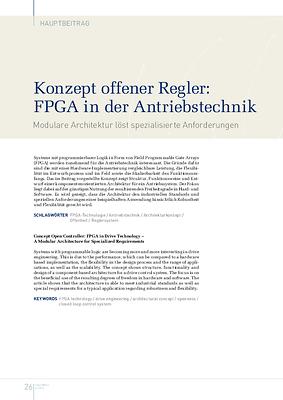 Konzept offener Regler: FPGA in der Antriebstechnik