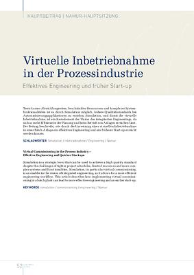 Virtuelle Inbetriebnahme in der Prozessindustrie