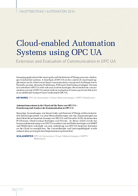 Cloud-enabled Automation Systems using OPC UA