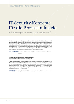 IT-Security-Konzepte für die Prozessindustrie