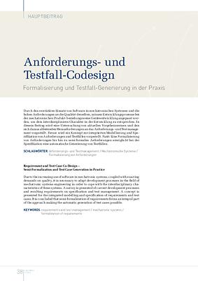 Anforderungs- und Testfall-Codesign