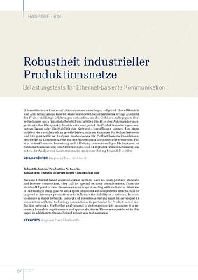 Robustheit industrieller Produktionsnetze