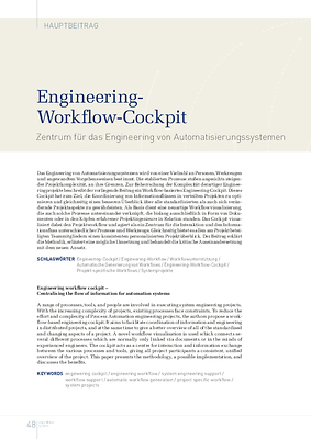 Engineering-Workflow-Cockpit