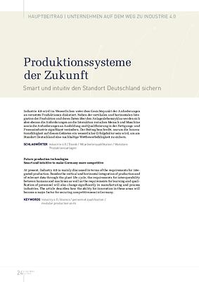 Produktionssysteme der Zukunft