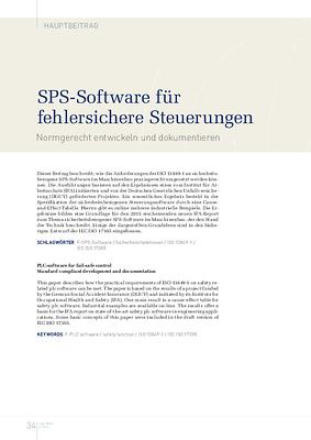 SPS-Software für fehlersichere Steuerungen