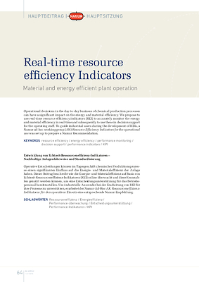 Real-time resource efficiency Indicators