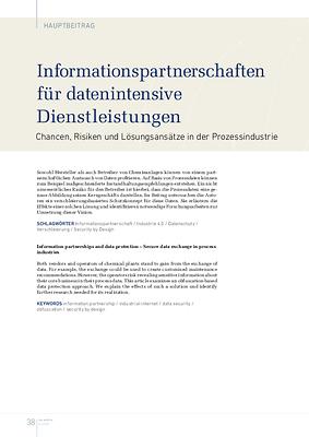 Informationspartnerschaften für datenintensive Dienstleistungen