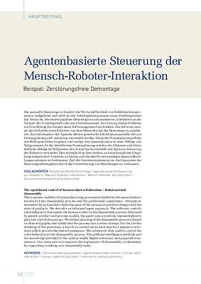 Agentenbasierte Steuerung der Mensch-Roboter-Interaktion