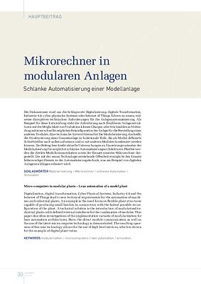 Mikrorechner in modularen Anlagen