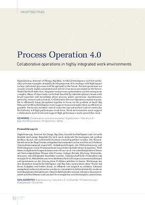 Process Operation 4.0