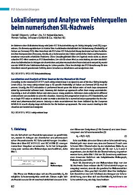 Lokalisierung und Analyse von Fehlerquellen beim numerischen SIL-Nachweis