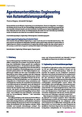 Agentenunterstütztes Engineering von Automatisierungsanlagen