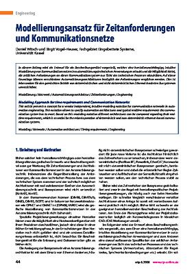 Modellierungsansatz für Zeitanforderungen und Kommunikationsnetze