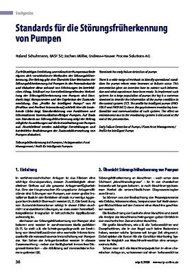 Standards für die Störungsfrüherkennung von Pumpen