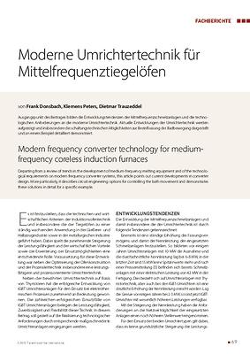Moderne Umrichtertechnik für Mittelfrequenztiegelöfen