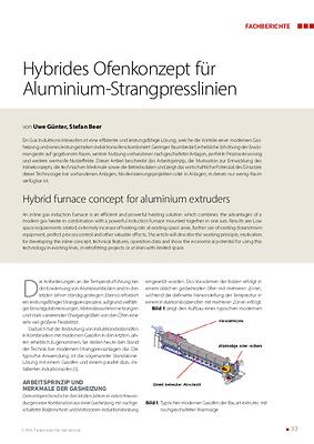 Hybrides Ofenkonzept für Aluminium-Strangpresslinien