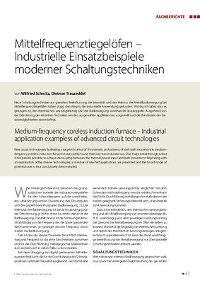 Mittelfrequenztiegelöfen – Industrielle Einsatzbeispiele moderner Schaltungstechniken